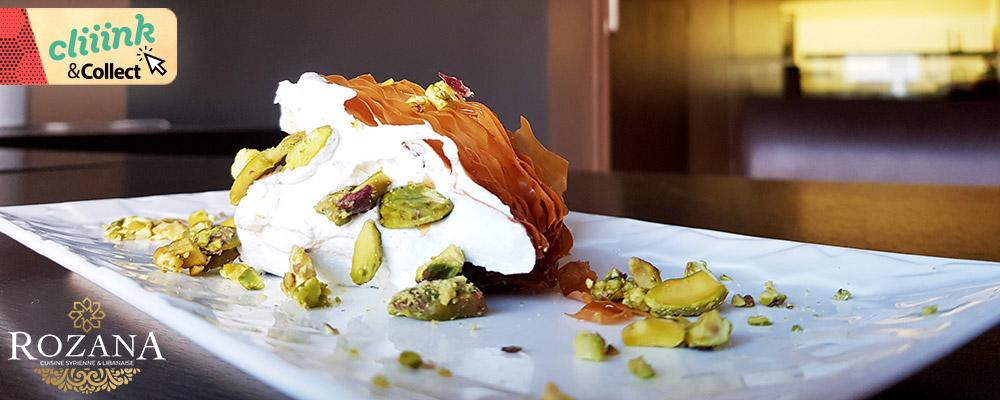 Restaurant Rozana : Un dessert offert
