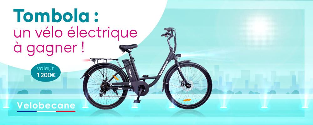 Tombola : 1 vélo électrique à gagner !