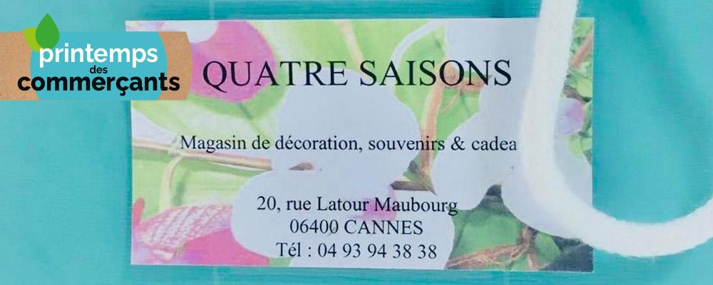 Quatre Saisons Cannes : 5€ offerts
